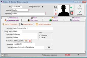 Ficha Cliente -> Datos Generales